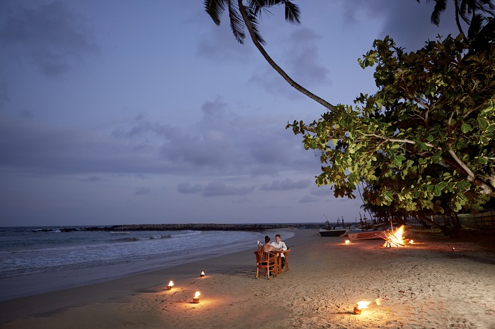 Romantic Beach Dining Dickwella Resort And Spa, Tangalle, Sri Lanka